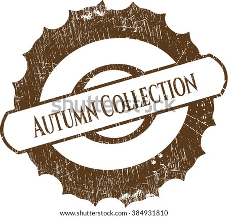 Autumn Collection with rubber seal texture