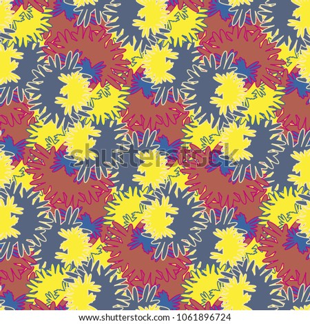 autumn colored seamless pattern
