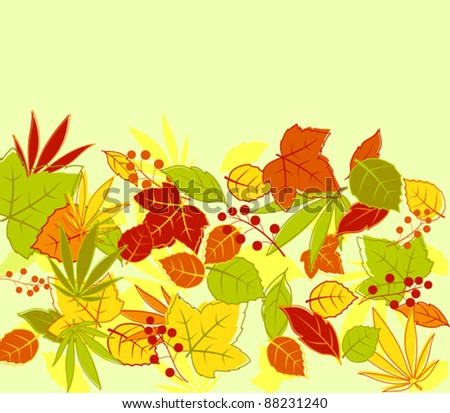 Autumn colorful leaves background for seasonal design. Jpeg version also available in gallery