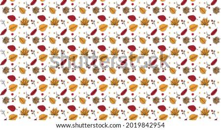 Autumn colors leaf pattern texture Photo stock ©