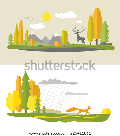 autumn design in flat style