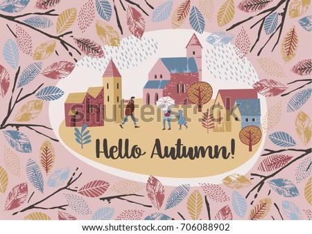 autumn design vector temlate