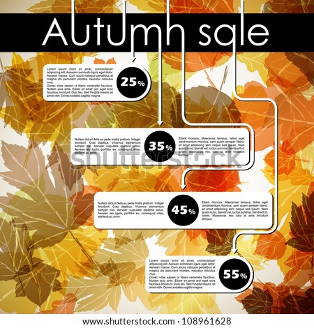 autumn discount sale, eps10
