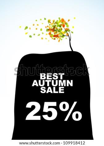 autumn discount sale, eps10