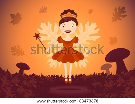 autumn fairy in wood
