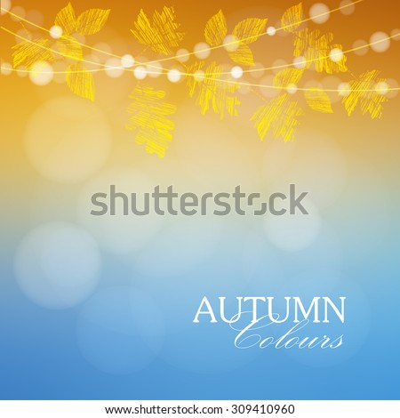autumn  fall background with