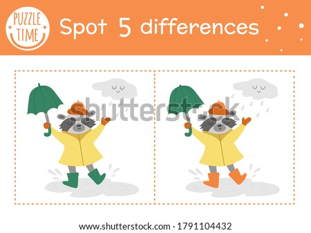 autumn find differences game