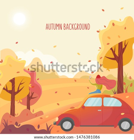 autumn flat vector background