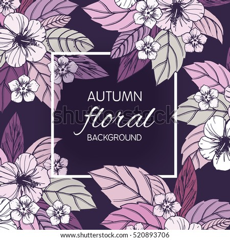 autumn floral design with