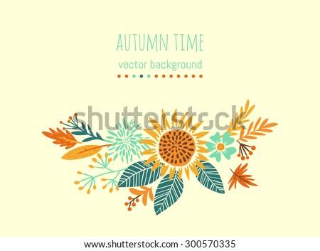 autumn flower composition hand