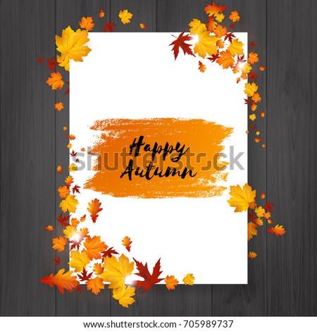 autumn flyer design with hand