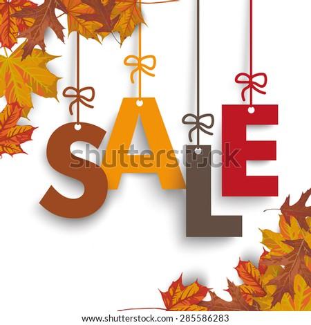 autumn foliage with text sale