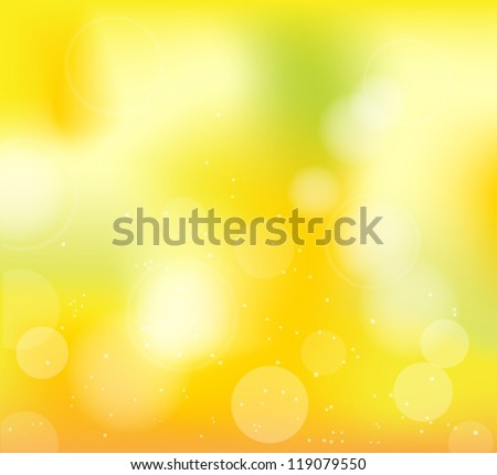 autumn frame with blur yellow