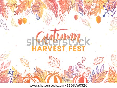 stock-vector-autumn-harvest-festival-poster-with-harvest-symbols-leaves-and-floral-elements-in-fall-colors