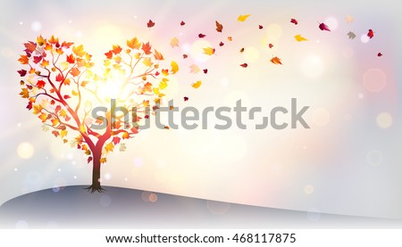 autumn in love   tree in a