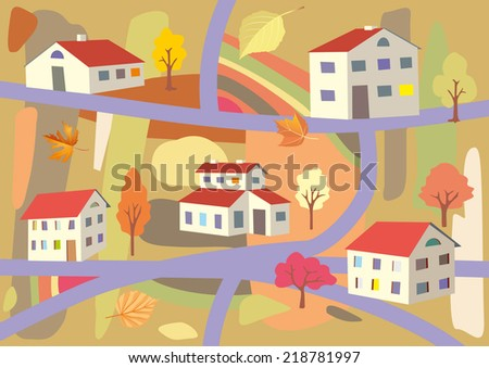 autumn in the town