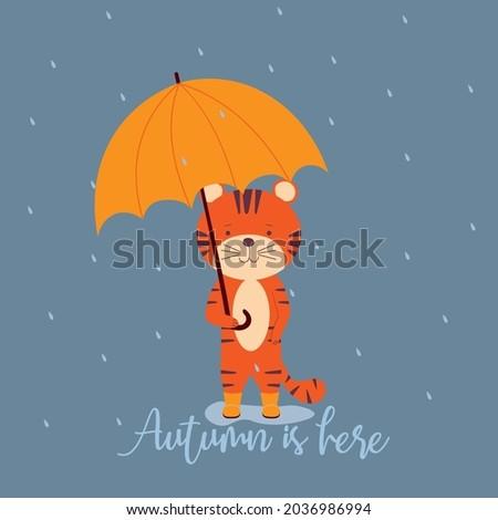 autumn is here a cute striped