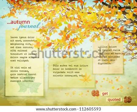 autumn journal   background