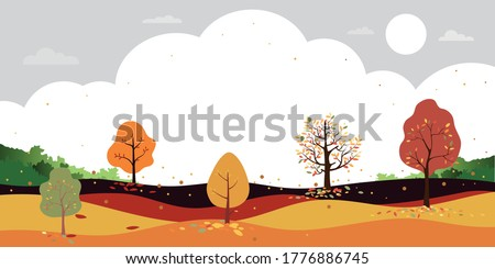 autumn landscape forest trees