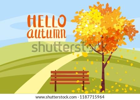 autumn landscape  hello autumn