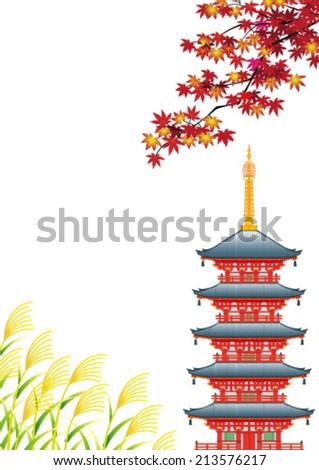autumn landscape in asia