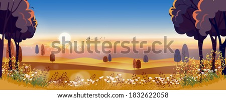 autumn landscape in countryside