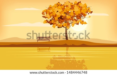 autumn landscape tree rural