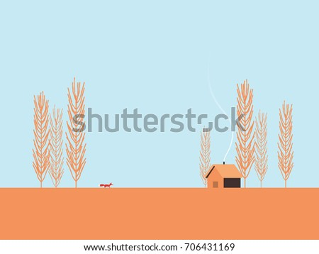 autumn landscape vector concept