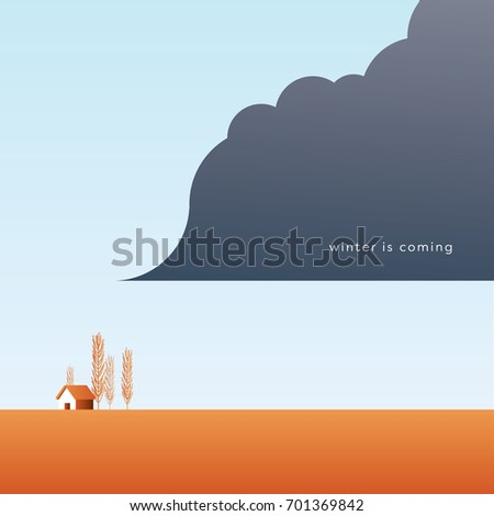 autumn landscape vector with