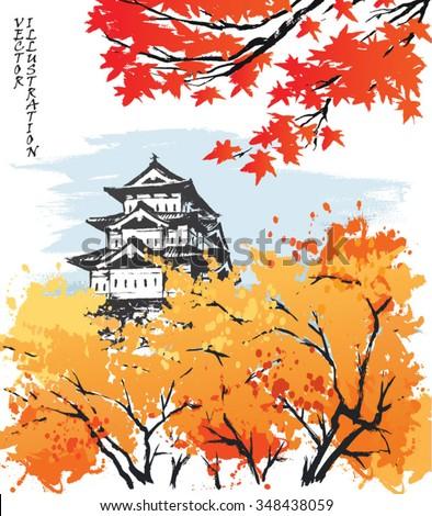 autumn landscape view of the