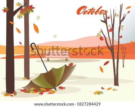 autumn landscape with a