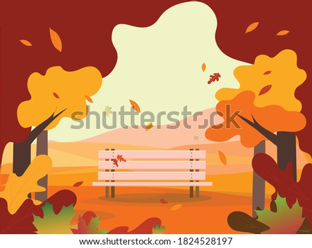 autumn landscape with an empty