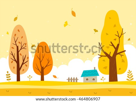 autumn landscape with the