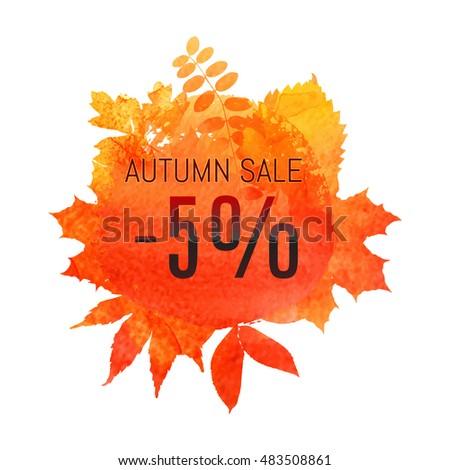 autumn leaf foliage watercolor