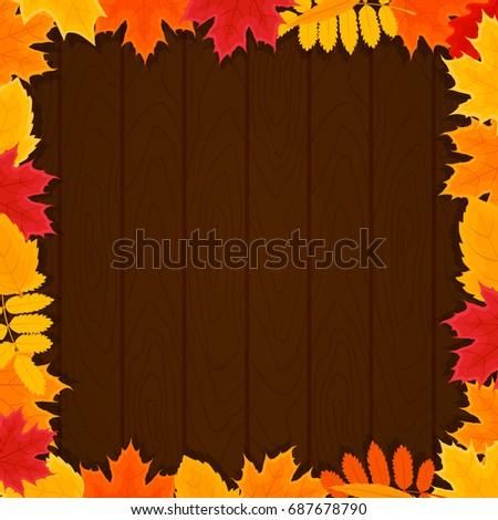 autumn leafs round a wood