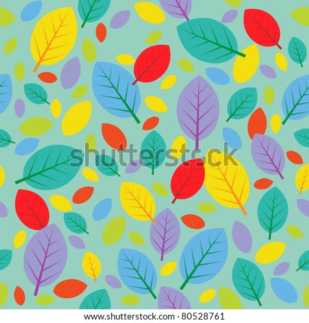 autumn leafs seamless background