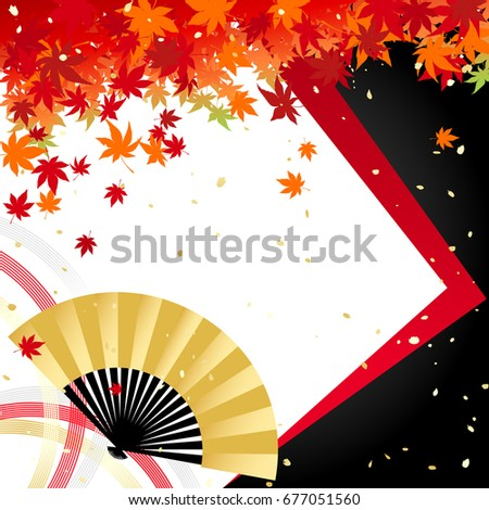 autumn leaves and fans and