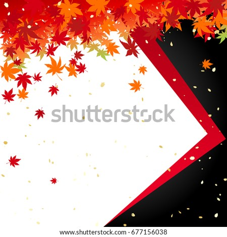 autumn leaves and japanese paper