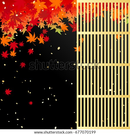 autumn leaves and japanese