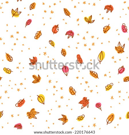 autumn leaves and sprinkles