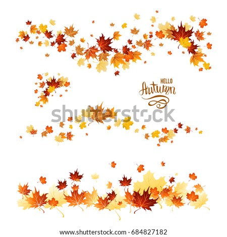 autumn leaves borders nature