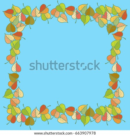 autumn leaves colored pattern