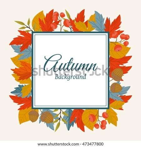autumn leaves fall on border