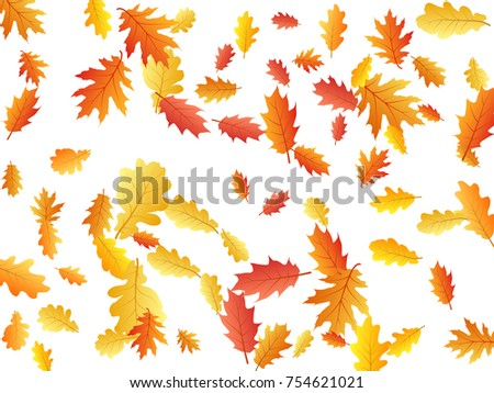 autumn leaves flying and