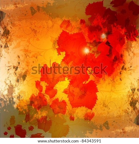autumn leaves grunge background