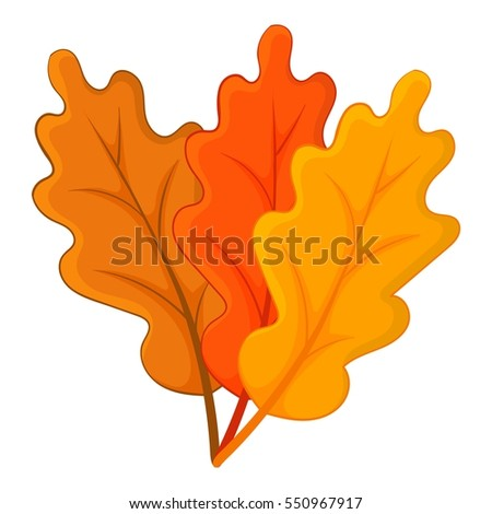 Autumn leaves icon. Cartoon illustration of autumn leaves vector icon for web design