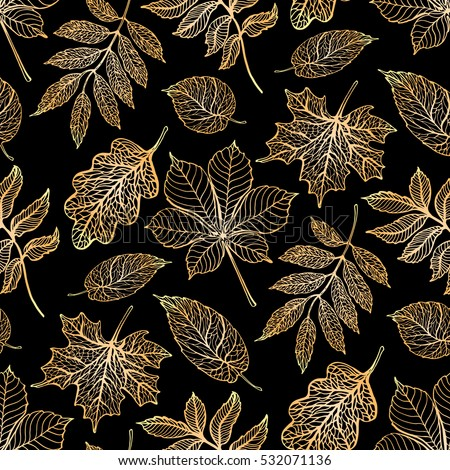 autumn leaves pattern  colorful