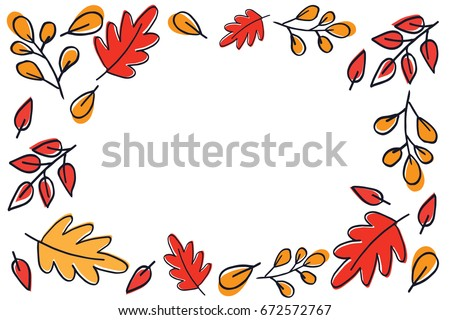 Autumn leaves pattern vector.