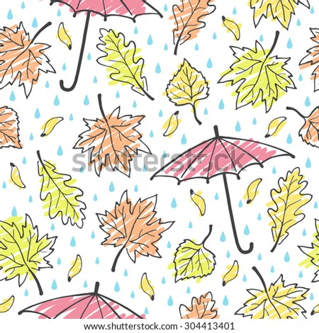 autumn leaves  rain and
