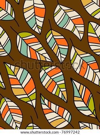 Autumn leaves - seamless vector pattern